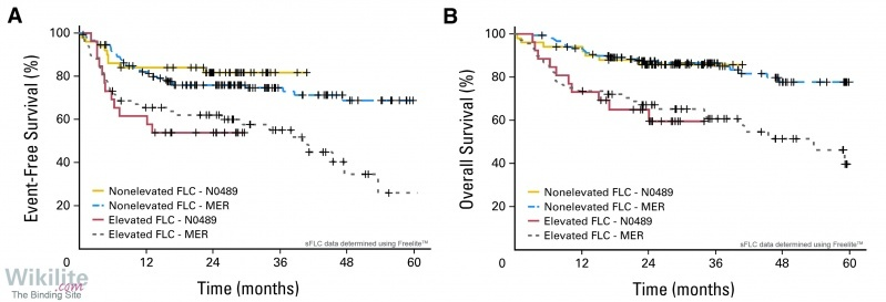 Figure 31.6. Kaplan-Meier survival curves for two cohorts of patients with untreated DLBCL (MER and N0489).